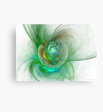The whole world in a small flower Canvas Print