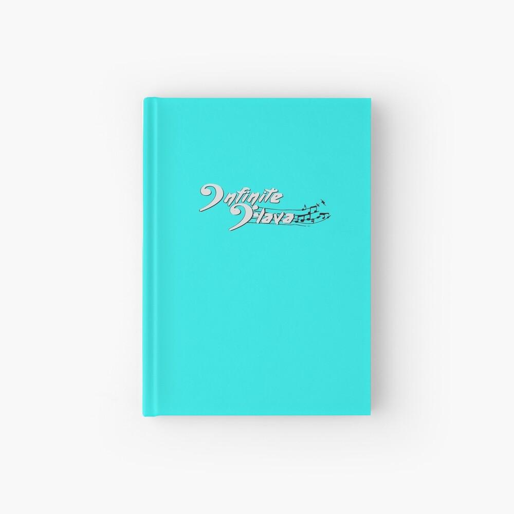 Infinite Flava logo- White Hardcover Journal