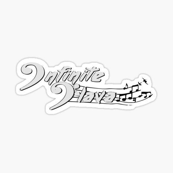 Infinite Flava logo- White Sticker