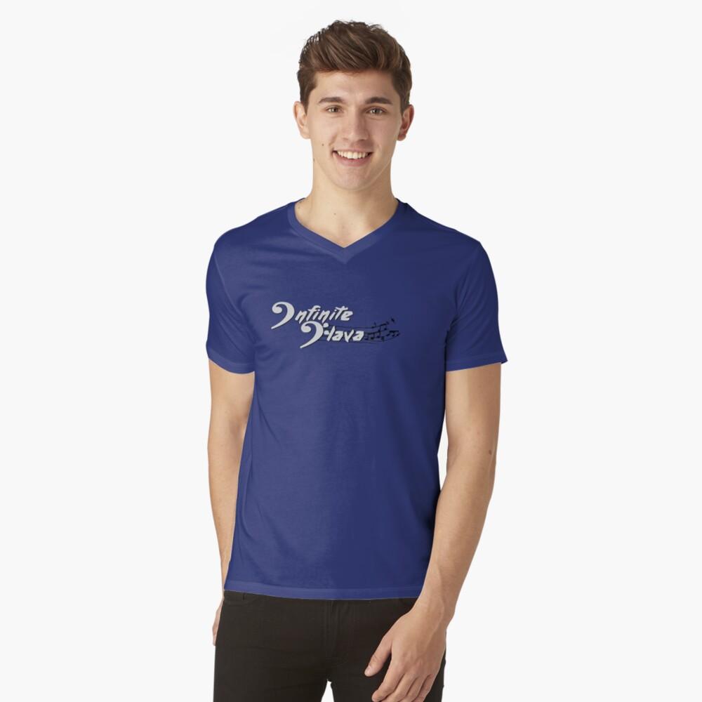 Infinite Flava logo- White V-Neck T-Shirt