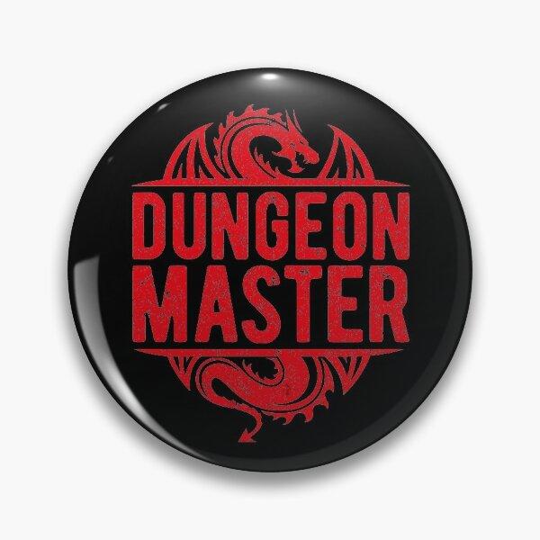 Dungeon Master Dice Dragons Pin