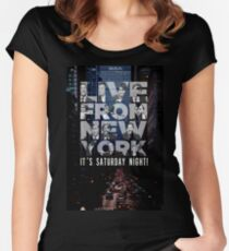 Live From New York, Saturday Night Live Women's Fitted Scoop T-Shirt