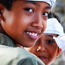 boy at puri agung ceremony by Michael Brewer