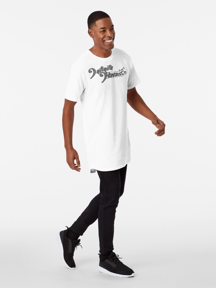 Alternate view of Infinite Flava Black Logo Long T-Shirt