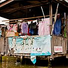 Bangkok Canal Laundry by phil decocco