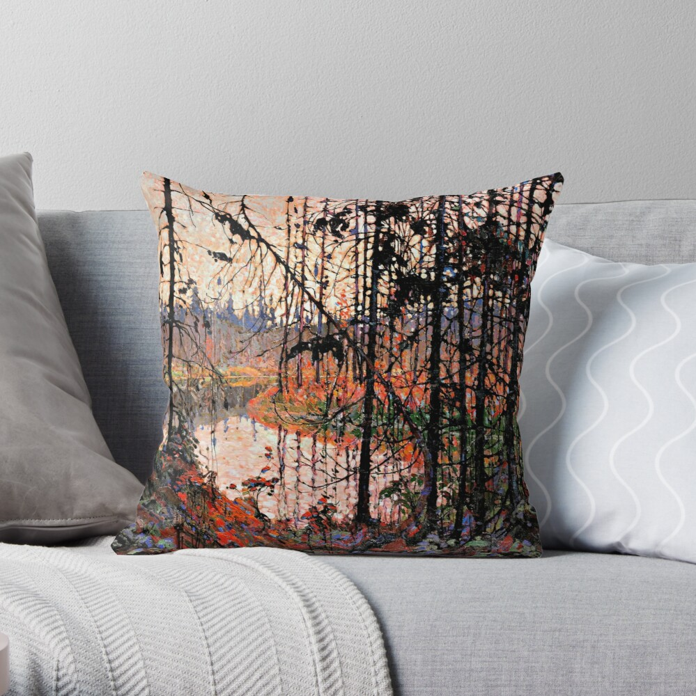 Tom Thomson - Northern River Throw Pillow
