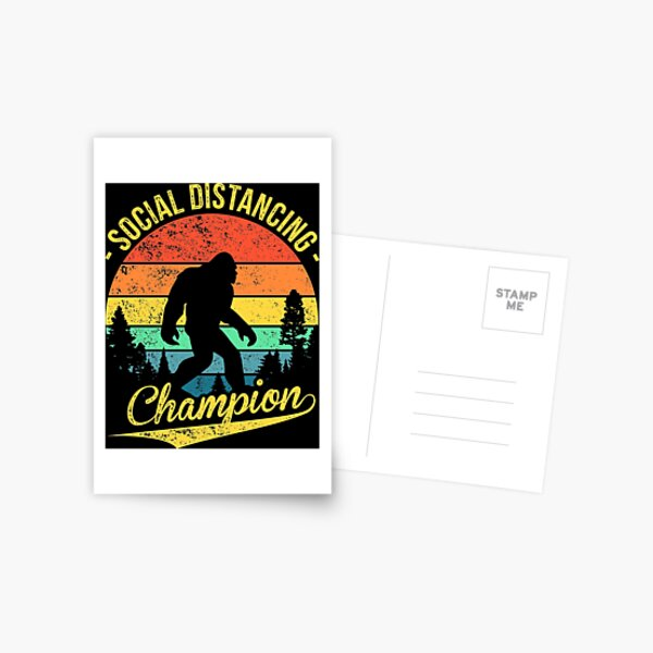 Social Distancing Champion Postcard