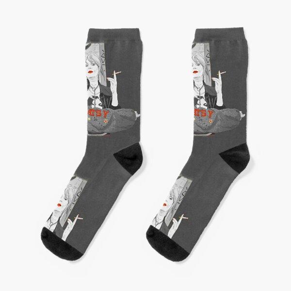 Ab Fab Eddie and Patsy black and white Socks