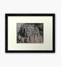 Sand Portraits - Retratos En Arena Framed Print