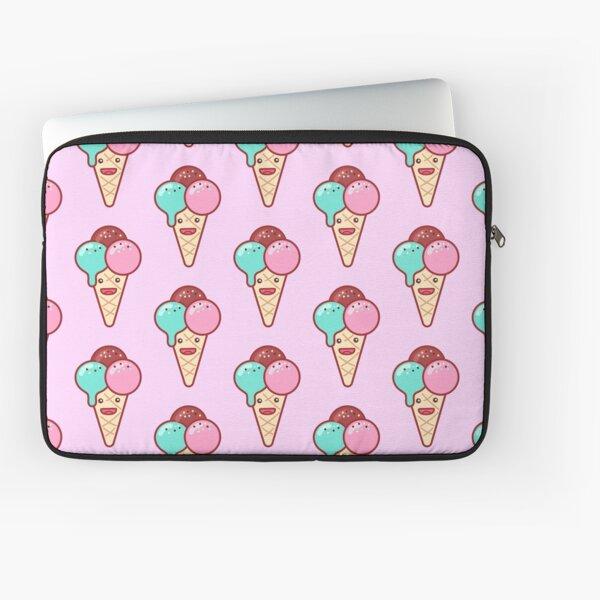 Triple Scoop Ice Cream Emoji Laptop Sleeve