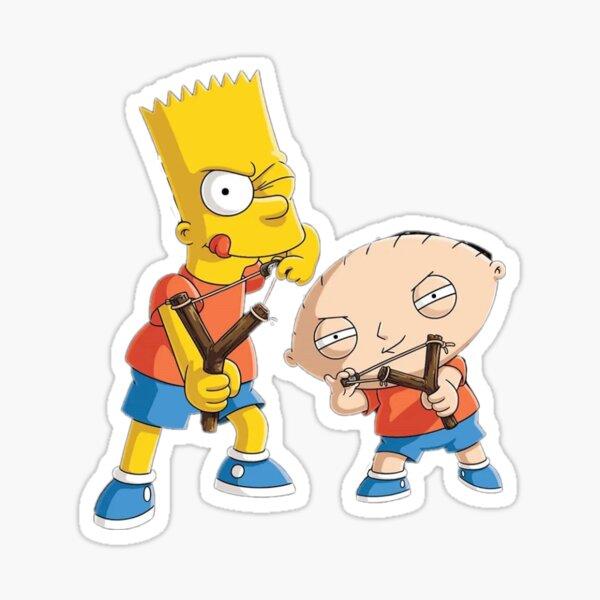 Bart & Stewie Sticker