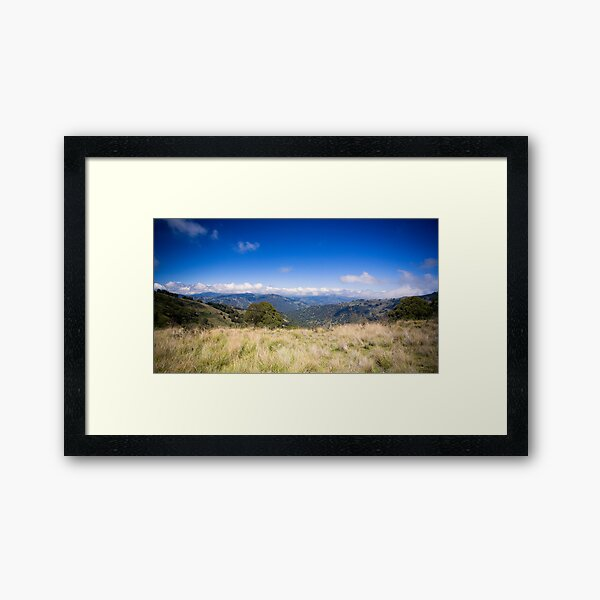 View from Barrinton Forrest Rd, Barrinton Tops Framed Art Print