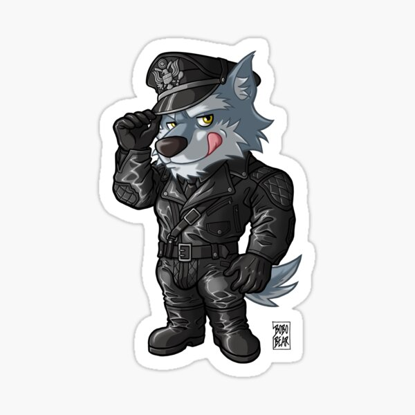 LEATHER WOLF - BEARZOO SERIES Sticker