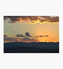 Rays of Tranquil sunset Photographic Print