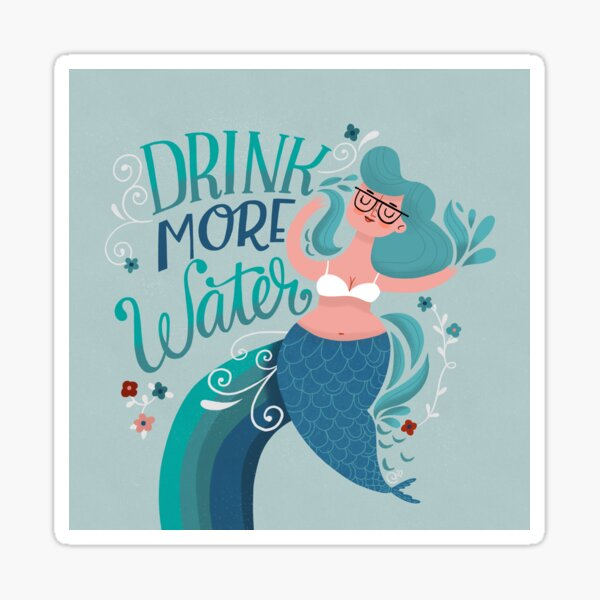 Work From Home Happy Tip- Drink More Water Sticker