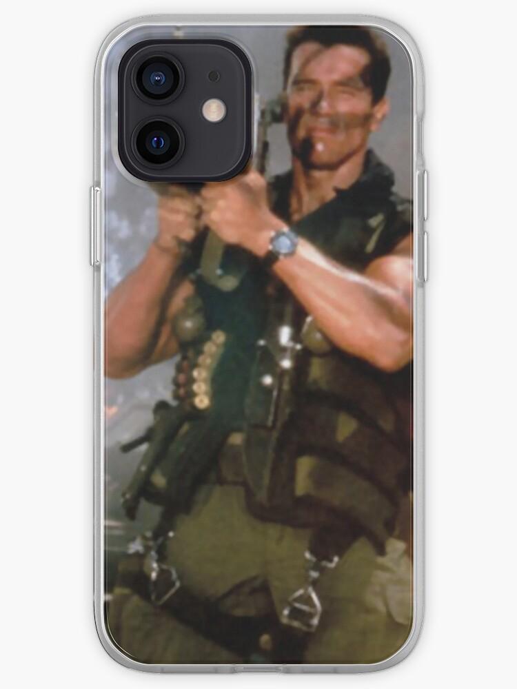 Arnold Schwarzenegger dans Commando avec étui Iphone bazooka (HD) | Coque iPhone