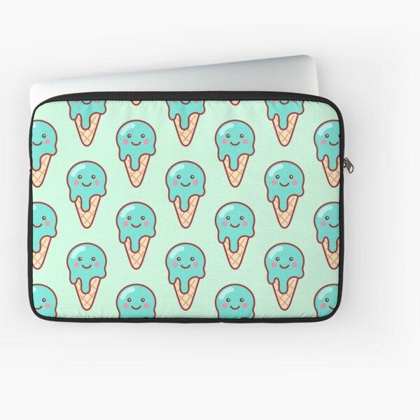 Bubblegum Ice Cream Emoji Laptop Sleeve