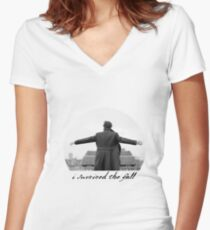 I Survived The Fall Women's Fitted V-Neck T-Shirt