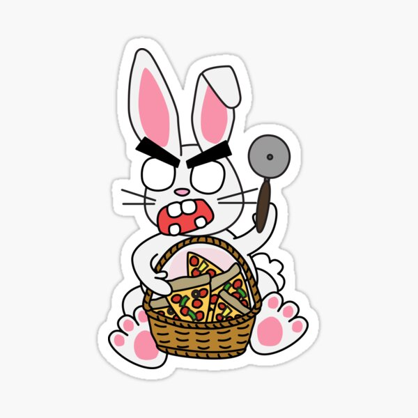 the pizza bunny Sticker