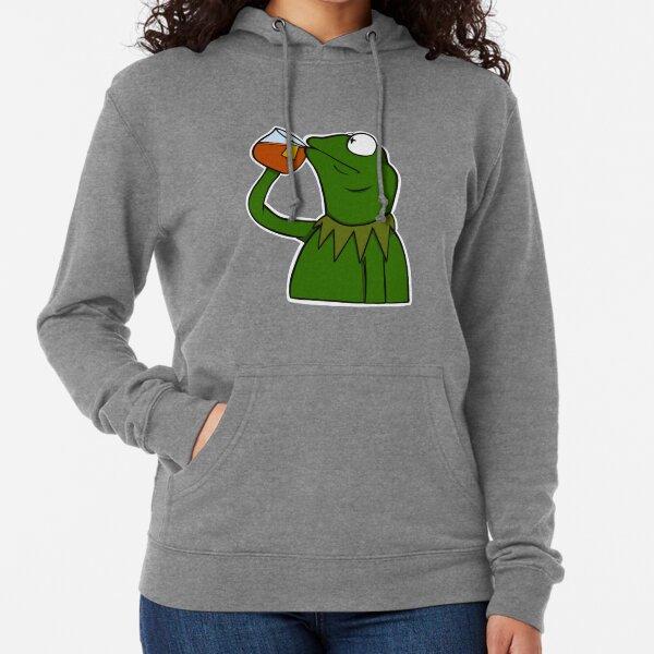 Kermit Sipping Tea Lightweight Hoodie