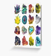Crystals Grußkarte