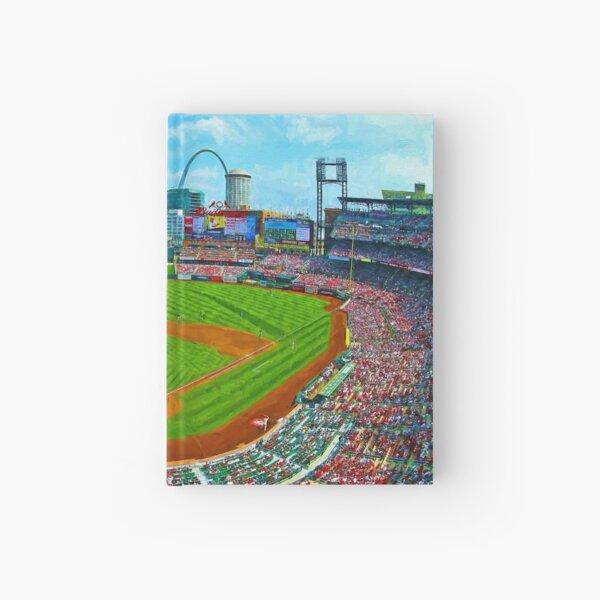St. Louis Cardinals Busch Stadium Baseball Painting Hardcover Journal