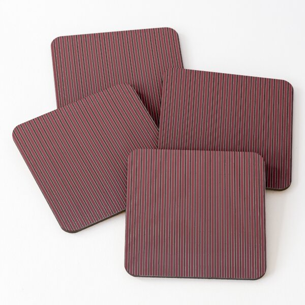 Red Stripes Coasters (Set of 4)