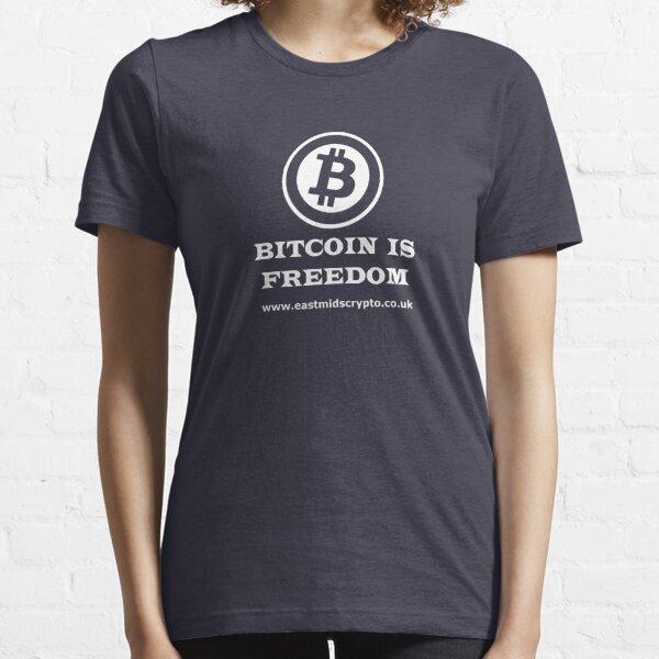 Bitcoin Freedom EMC White Essential T-Shirt