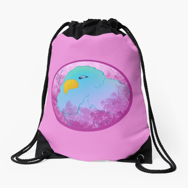 Sleeping Bird Drawstring Bag