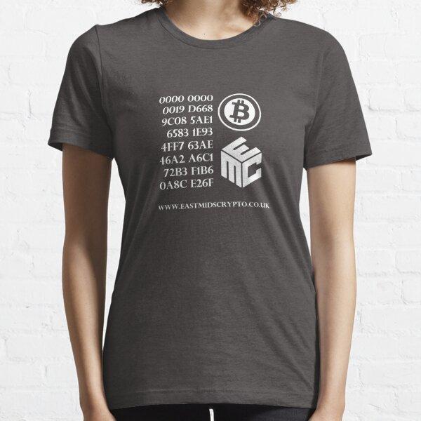 Bitcoin Genesis Block EMC White Essential T-Shirt