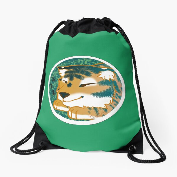 Sleeping Tiger Drawstring Bag
