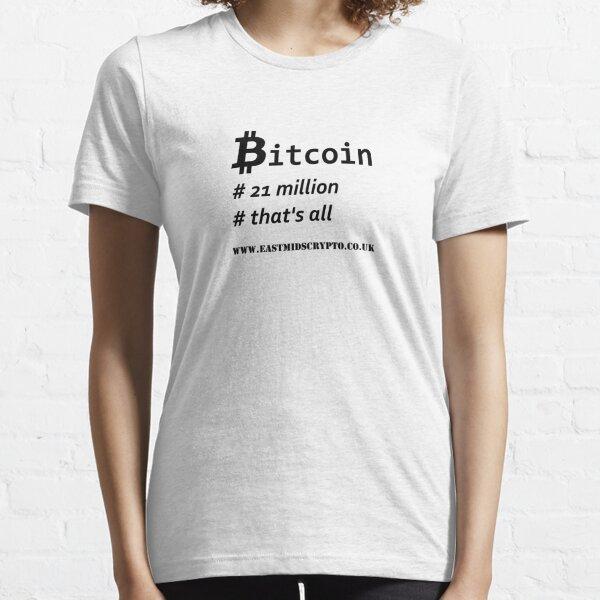 Bitcoin 21 million EMC Essential T-Shirt
