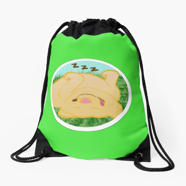 Sleeping Doggo Drawstring Bag