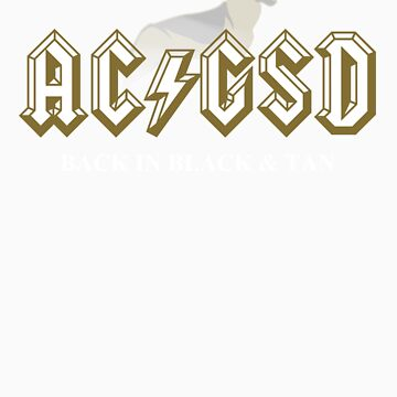 AC/GSD Back in Black & Tan by katmomma