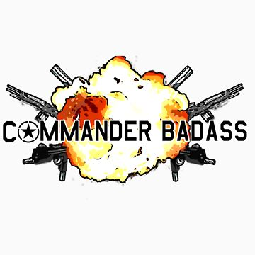 Commander Badass Logo by boomshadow