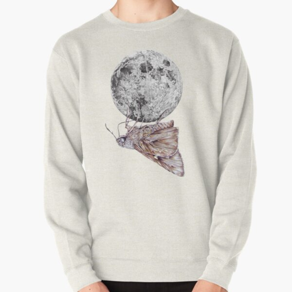 In which a moth is enticed by the light of the moon Pullover Sweatshirt