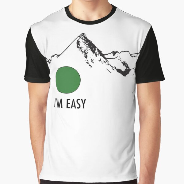 Skiing Difficulty - I'm Easy Graphic T-Shirt