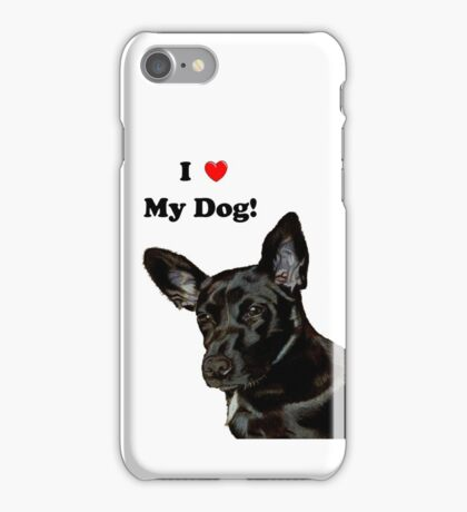 I Heart My Dog! Little Black Dog iPhone & iPod Cases iPhone Case/Skin