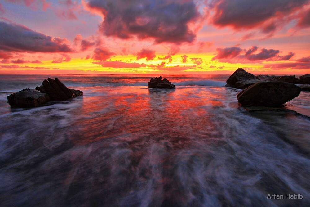 Between the rocks by Arfan Habib