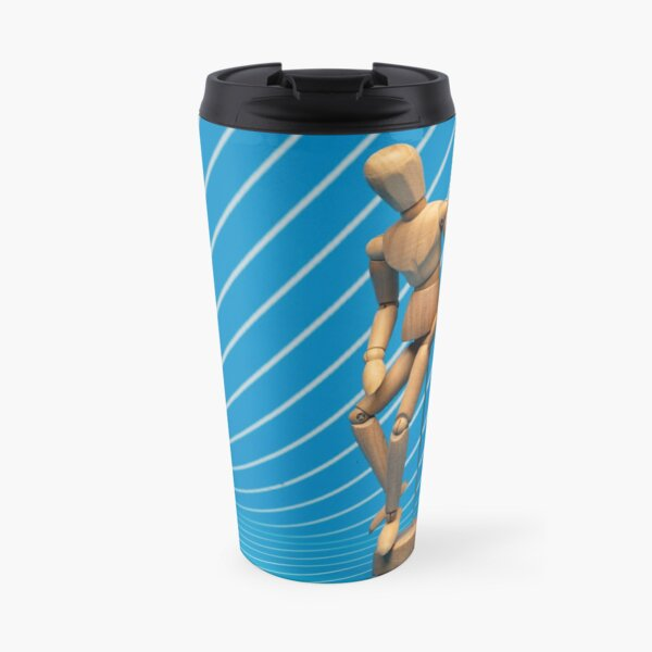 Boredom Personified via Retro Background Mannequin Travel Mug