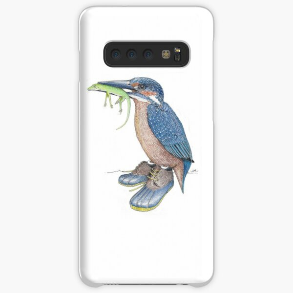 Kingfisher in duck shoes Samsung Galaxy Snap Case