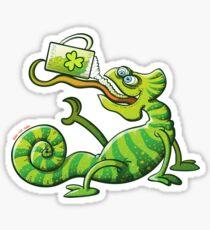 Saint Patrick's Day Chameleon Sticker