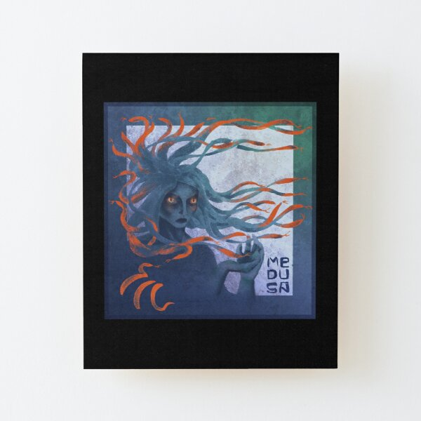 Medusa the Gorgon Wood Mounted Print