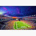Patriots Gillette Stadium Foxborough Massachusetts New England Patriots Football Stadium Painting Poster By Theowestlake Redbubble