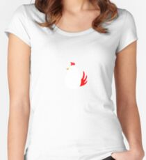 What came first? Women's Fitted Scoop T-Shirt