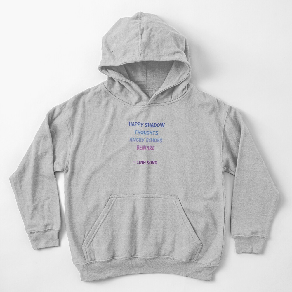 happy shadow thoughts  Kids Pullover Hoodie