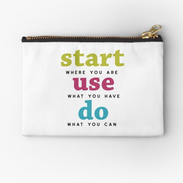Start, Use and Do Zipper Pouch