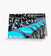 Boris Bike Blues Greeting Card