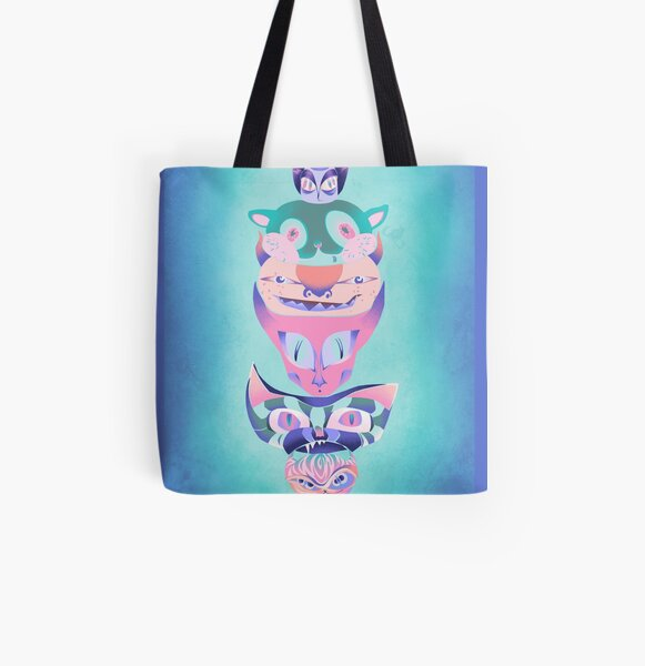 CatTotem #1 All Over Print Tote Bag