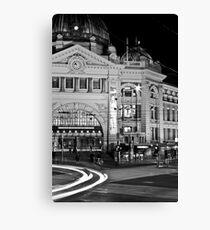 Flinders Station at night Canvas Print